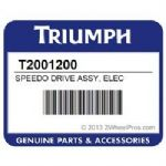 Triumph Motorcycles Speedo Drive Assembly Triumph Genuine Part T2001200. (Electric)